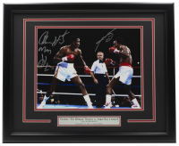 "Sugar Ray Leonard & Thomas ""Hitman"" Hearns Signed 11x14 Custom Framed Photo Display with Inscription (PSA COA) at PristineAuction.com"