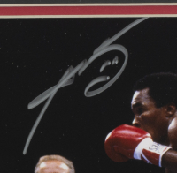 "Sugar Ray Leonard & Thomas ""Hitman"" Hearns Signed 11x14 Custom Framed Photo Display with Inscription (PSA COA) at PristineAuction.com"