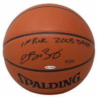 "LeBron James Signed LE Official NBA Game Ball Inscribed ""1st Pick 2003 Draft"" (UDA COA) at PristineAuction.com"