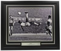 Pele Signed 16x20 Custom Framed Photo Display (Beckett COA) at PristineAuction.com