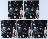"""Lot of (5) Tom """"Satch"""" Sanders Signed Celtics 8x10 Photos Inscribed """"8 Time Champ"""" (Hollywood Collectibles Hologram) at PristineAuction.com"""