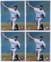 Lot of (4) Gil Meche Signed Royals 8x10 Photos (Hollywood Collectibles Hologram) at PristineAuction.com