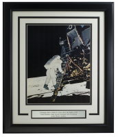 "Buzz Aldrin ""Moon Landing"" 11x14 Custom Framed Photo at PristineAuction.com"