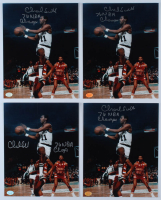 "Lot of (4) Charlie Scott Signed Celtics 8x10 Photos Inscribed ""76 NBA Champs"" (Hollywood Collectibles Hologram) at PristineAuction.com"
