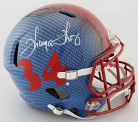 Thurman Thomas Signed Bills Full-Size Authentic On-Field Hydro-Dipped Speed Helmet (JSA COA) (See Description) at PristineAuction.com