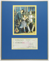 """Jack Haley Signed """"The Wizard of Oz"""" 16x20 Custom Matted Check Display (JSA COA) at PristineAuction.com"""
