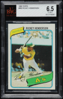 Rickey Henderson 1980 Topps #482 RC (BVG 6.5) at PristineAuction.com