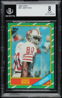 Jerry Rice 1986 Topps #161 RC (BGS 8) at PristineAuction.com