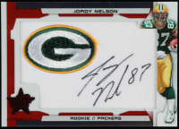 Jordy Nelson 2008 Leaf Rookies and Stars Longevity Rookie Jersey Jumbo Swatch Ruby #233 at PristineAuction.com