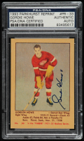 Gordie Howe Signed 1993-94 Parkhurst Parkie Reprints #PR33 (PSA Encapsulated) at PristineAuction.com