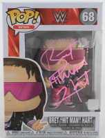 "Bret ""Hit Man"" Hart Signed WWE #68 Funko Pop! Vinyl Figure (JSA COA) at PristineAuction.com"