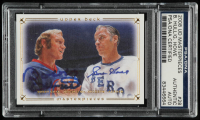 Bobby Hull & Gordie Howe Signed 2008-09 UD Masterpieces #28 (PSA Encapsulated) at PristineAuction.com