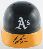 """Jose Canseco Signed Athletics Full-Size Authentic On-Field Batting Helmet Inscribed """"The Chemist"""" (Beckett COA) at PristineAuction.com"""