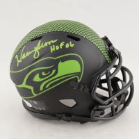 "Warren Moon Signed Seahawks Eclipse Alternate Speed Mini Helmet Inscribed ""HOF 06"" (Beckett COA) at PristineAuction.com"