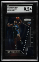 Zion Williamson 2019-20 Panini Prizm Instant Impact #2 (SGC 9.5) at PristineAuction.com