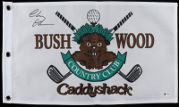 """Chevy Chase Signed """"Caddyshack"""" Bushwood Flag Movie Prop Replica (Beckett COA) at PristineAuction.com"""