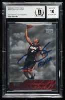 "Dwayne Wade Signed 2003-04 Upper Deck #305 RC Inscribed ""Flash"" (BGS Encapsulated) at PristineAuction.com"