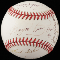 "OML Baseball Signed by (8) with Gaylord Perry, Hank Foiles, Jim Spencer, Dickie Noles, Jim Coates, Jack Fischer & (2) others Inscribed ""HOF 91"" (JSA COA) at PristineAuction.com"
