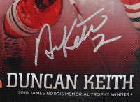 Duncan Keith Signed Blackhawks 9x12 Canvas (JSA COA) at PristineAuction.com