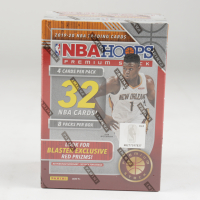 2019-20 NBA Hoops Premium Stock Basketball Blaster Box with (32) Cards at PristineAuction.com