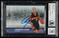 Stephen Curry Signed 2009-10 Studio Skylines #9 (BGS Encapsulated) at PristineAuction.com