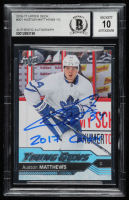 "Auston Matthews Signed 2016-17 Upper Deck #201 YG RC Inscribed ""2017 Calder"" (BGS Encapsulated) at PristineAuction.com"