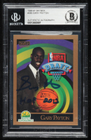 "Gary Payton Signed 1990-91 SkyBox #365 RC Inscribed ""HOF 2013"" (BGS Encapsulated) at PristineAuction.com"