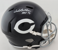 "Dick Butkus Signed Bears Full-Size Speed Helmet Inscribed ""HOF 79"" (Beckett COA) at PristineAuction.com"