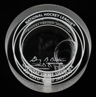 Connor McDavid Oilers NHL Debut - Crystal Hockey Puck - Filled with Ice from NHL Debut (Fanatics Hologram) at PristineAuction.com