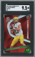 Justin Herbert 2020 Panini Chronicles Draft Picks #4 Rookie Spectra Red Prizm RC (SGC 9.5) at PristineAuction.com