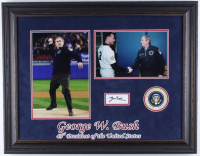 George W. Bush Signed 21x26.5 Custom Framed Cut Display (JSA COA) at PristineAuction.com