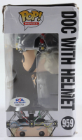 """Christopher Lloyd Signed """"Back To The Future"""" #959 Doc With Helmet Funko Pop Figure (PSA COA) (See Description) at PristineAuction.com"""