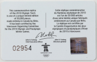 Wayne Gretzky Signed LE 2010 Olympics Replica Torch Box with Birks Torch (UDA COA) (See Description) at PristineAuction.com