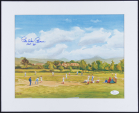 "Pee Wee Reese Signed 13x16 Custom Matted Lithograph Display Inscribed ""HOF 84"" (JSA COA) at PristineAuction.com"
