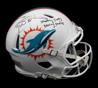"Ricky Williams Signed Dolphins Full-Size Authentic On-Field Speed Helmet Inscribed ""Smokin Joints & Scoring Points"" (Radtke COA) at PristineAuction.com"