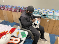"""Ricky Williams Signed Dolphins Full-Size Authentic On-Field Speed Helmet Inscribed """"Smokin Joints & Scoring Points"""" (Radtke COA) at PristineAuction.com"""