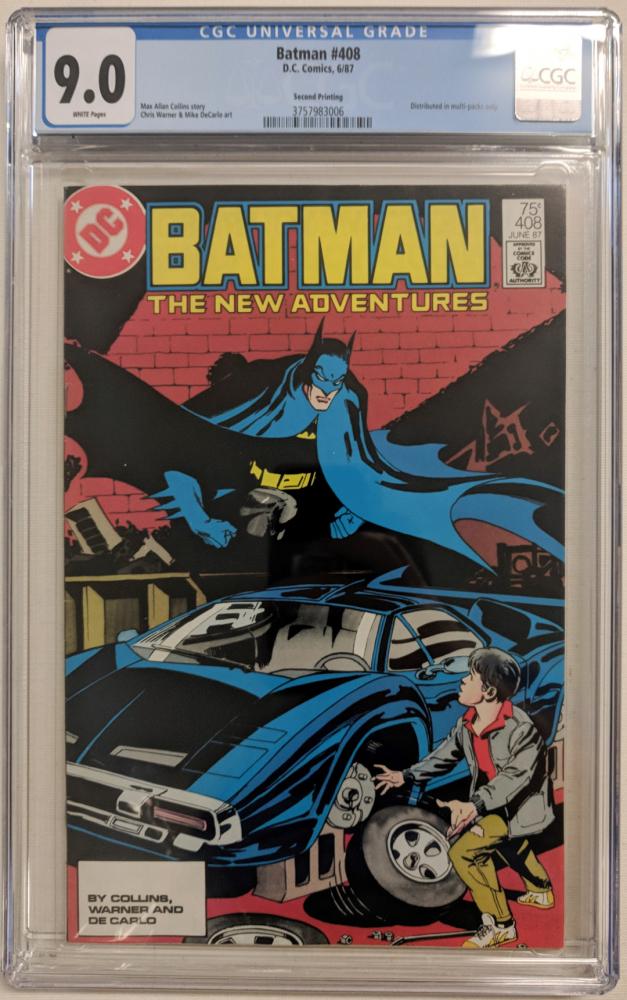 "1987 ""Batman"" Issue #408 Marvel Comic Book (CGC 9.0) at PristineAuction.com"