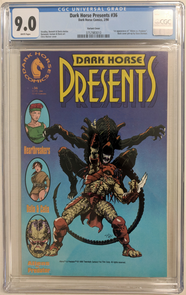"1990 ""Dark Horse Presents"" Issue #36 Dark Horse Comic Book (CGC 9.0) at PristineAuction.com"