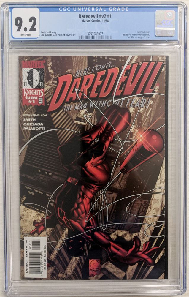 "1998 ""Daredevil"" Vol. 2 Issue #21 Marvel Comic Book (CGC 9.2) at PristineAuction.com"
