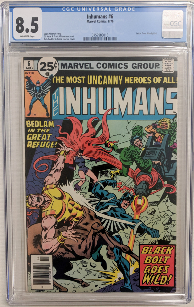 "1976 ""Inhumans"" Issue #6 Marvel Comic Book (CGC 8.5) at PristineAuction.com"