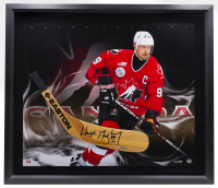 Wayne Gretzky Signed Team Canada LE 25x29 Custom Framed Hockey Stick Blade Display (UDA COA) at PristineAuction.com