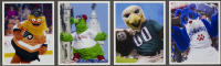 "Gritty, Phillie Phanatic, Swoop & Franklin ""Philadelphia Mascots"" 18x40 Custom Framed Photo Display with (4) Pins at PristineAuction.com"