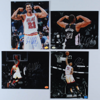 Lot of (4) Hassan Whiteside Signed Heat 8x10 Photos (Hollywood Collectibles Hologram) at PristineAuction.com