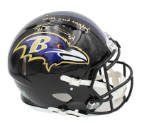"""Ricky Williams Signed Ravens Full-Size Authentic On-Field Speed Helmet Inscribed """"Smoke Weed Everyday!"""" (Radtke COA) at PristineAuction.com"""