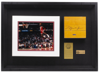 Michael Jordan Signed LE Bulls 31x48 Custom Framed Shadowbox Display with Game-Used NBA Floor Piece (UDA COA) at PristineAuction.com
