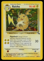 Raichu 1999 Pokemon Fossil Unlimited #14 HOLO at PristineAuction.com