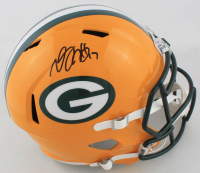 Davante Adams Signed Packers Full-Size Speed Helmet (Beckett Hologram) at PristineAuction.com