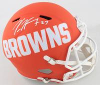 Kareem Hunt Signed Browns Full-Size AMP Alternate Speed Helmet (Beckett COA) at PristineAuction.com