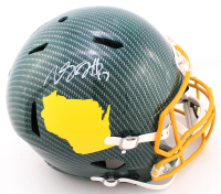 Davante Adams Signed Packers Full-Size Authentic On-Field Hydro-Dipped Speed Helmet (Beckett COA) (See Description) at PristineAuction.com