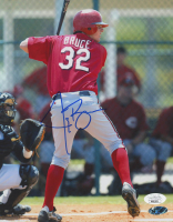 Jay Bruce Signed LE Reds 8x10 Photo (JSA COA) at PristineAuction.com